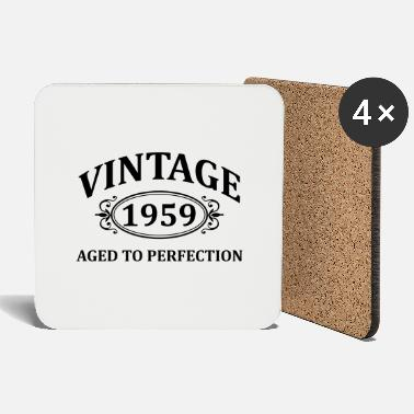 Vintage 1959 Aged to Perfection - Coasters