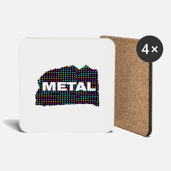 Metal Mugs & Drinkware - metal - Coasters white
