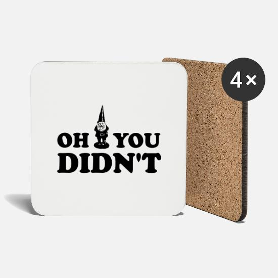 Funny Mugs & Drinkware - Oh Gnome You Didn't - Coasters white