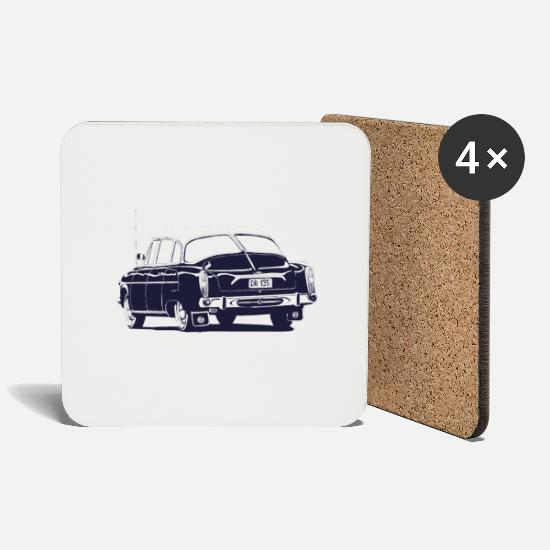Vintage Car Mugs & Drinkware - tatra 603 - Coasters white