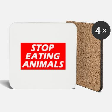 STOP EATING ANIMALS - Coasters