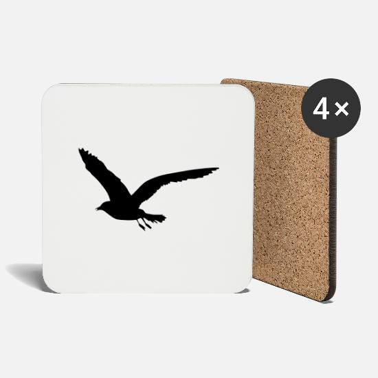 Worm Mugs & Drinkware - seagull - Coasters white