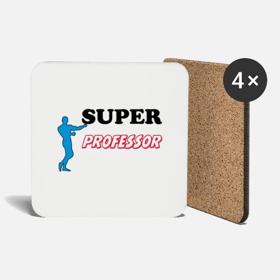 Professor Mugs & Drinkware - Super professor - Coasters white