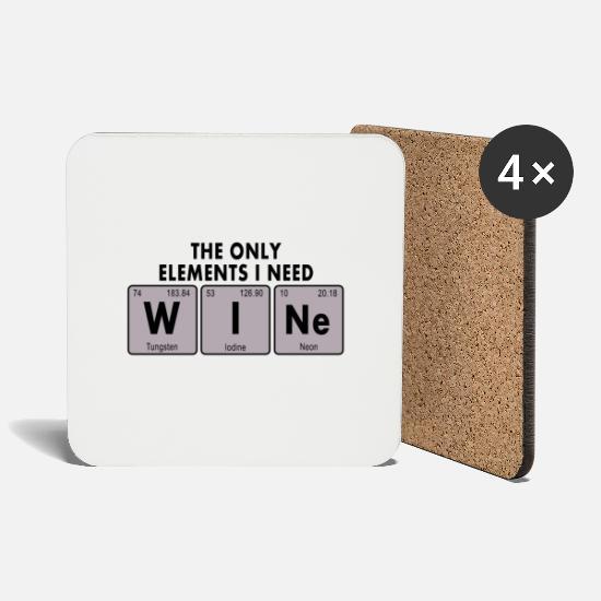 Wein Chemische Formel Untersetzer 4er Set Weiß