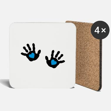 Come baby - hands - handprint - heart - Coasters