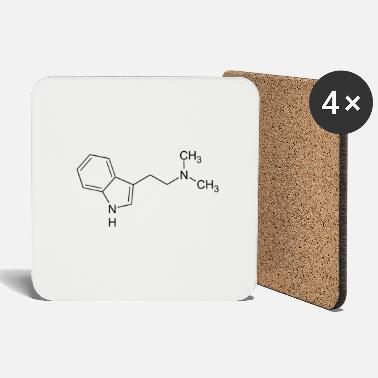 Hallucinogen DMT dimethyltryptamine structural formula - Coasters