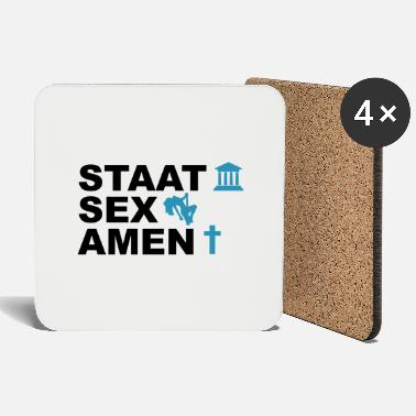 State State Examination / State Sex Amen - Coasters