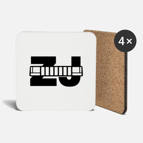 Grand Mugs & Drinkware - Jeep ZJ grill - Coasters white