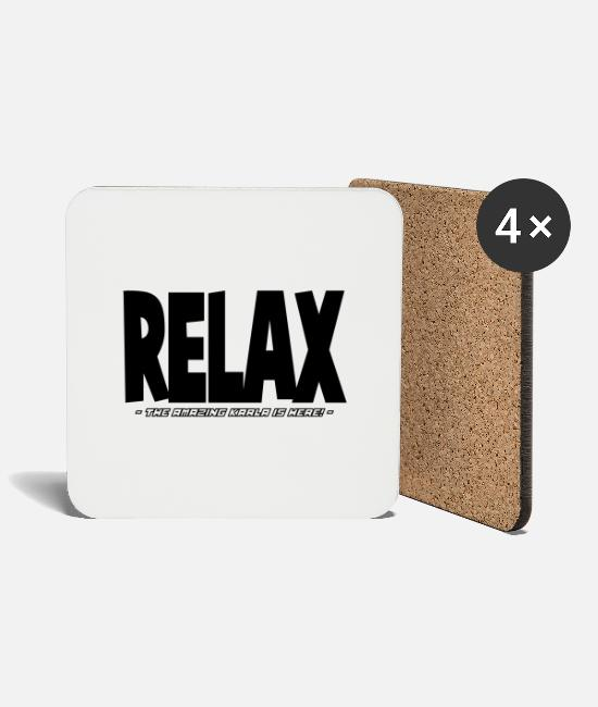 Relax Mugs & Drinkware - relax the amazing karla is here - Coasters white