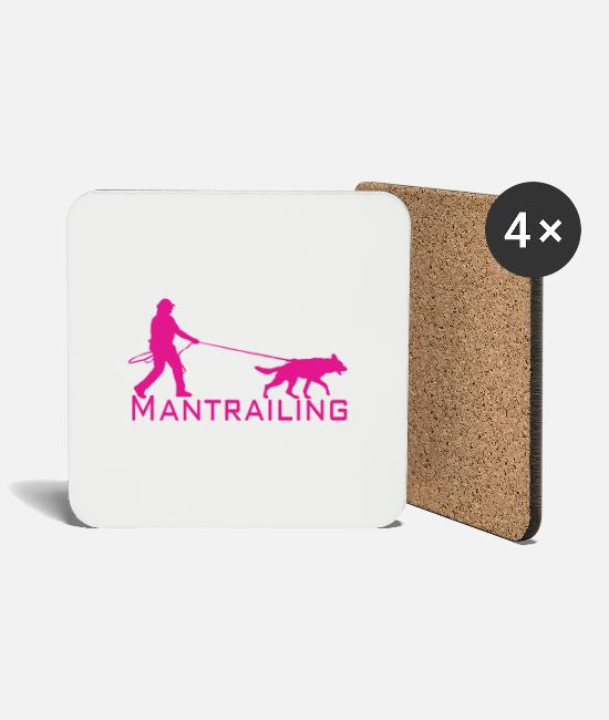 Salvation Mugs & Drinkware - Mantrailing pink - Coasters white