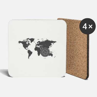 Map with compass 2 - Coasters