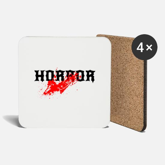 Gift Idea Mugs & Drinkware - horror - Coasters white