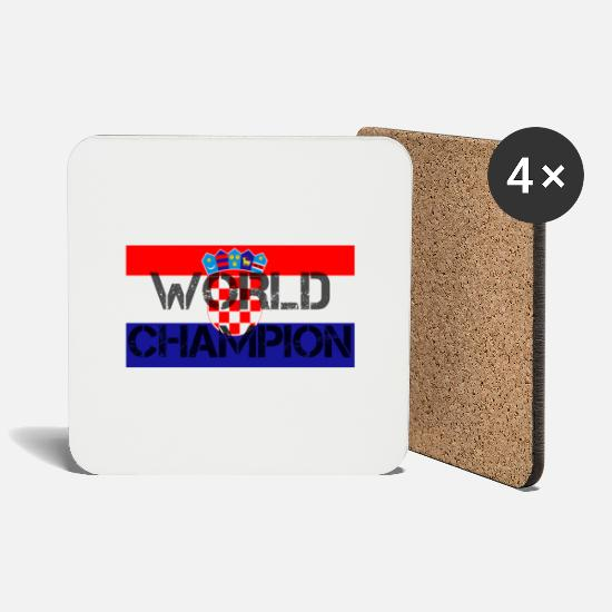 Croatia Mugs & Drinkware - Croatia World Champion - Coasters white
