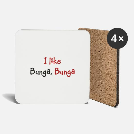 Request Mugs & Drinkware - I like Bunga, Bunga - Coasters white