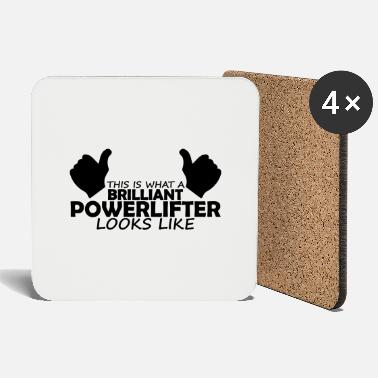 Brilliant brilliant powerlifter - Coasters