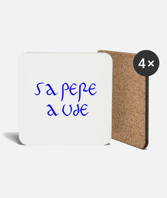 Reason Mugs & Drinkware - Sapere Aude - Have the courage to be wise - Coasters white