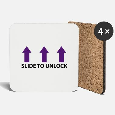 Open Underwear Slide to unlock (vertical, 2 colors) - Coasters