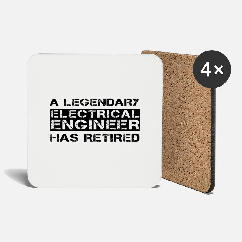 Electrical Engineer Design Mugs & Drinkware - Retired Electrical Engineer Retirement Gift Idea - Coasters white