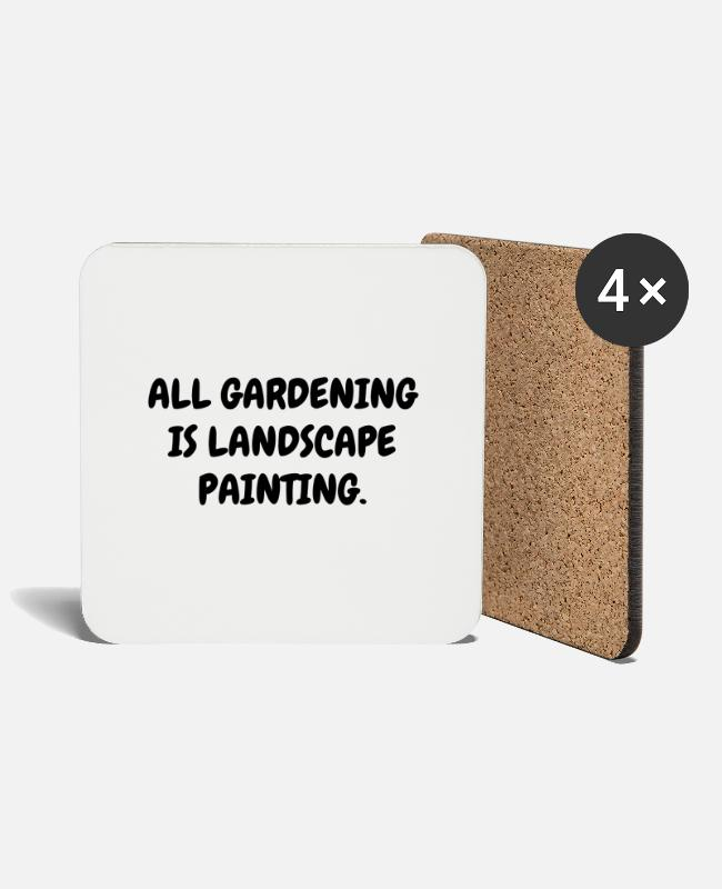Nature Mugs & Drinkware - Garden - Gardener - Gardening - Green - Nature - Coasters white