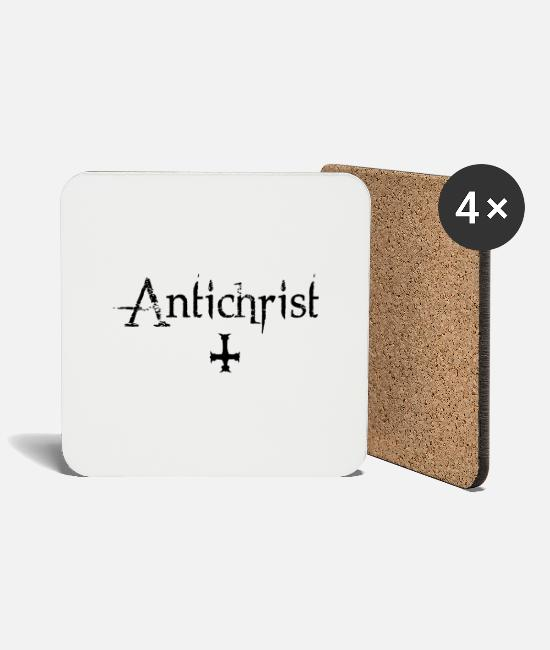 Lucifer Mugs & Drinkware - Antichrist - Lucifer - Coasters white