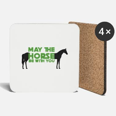 May The Horse Pferd / Bauernhof: May The Horse Be With You - Untersetzer