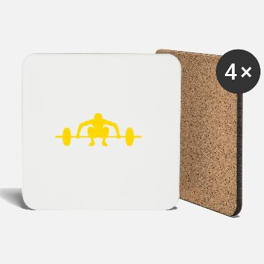 Barbell yellow - Coasters