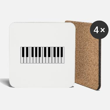 Piano white piano piano - Coasters