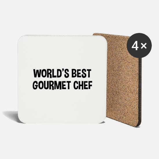 Grill Mugs & Drinkware - worlds best gourmet chef - Coasters white