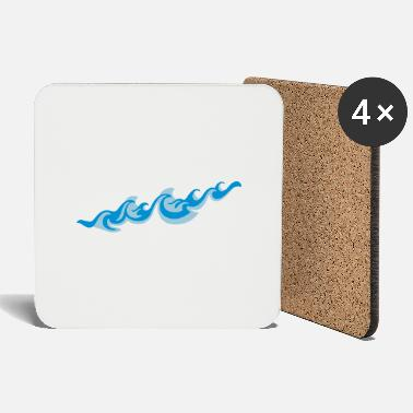 Sea Underwear Waves 2C - Coasters