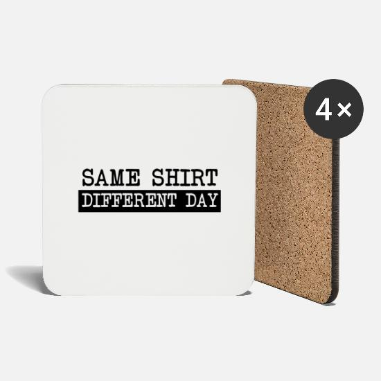 Breakup Mugs & Drinkware - Same Shirt Different Day - Coasters white