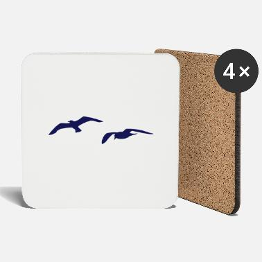 Harbour sea gull seagull beach harbour sailing ship - Coasters