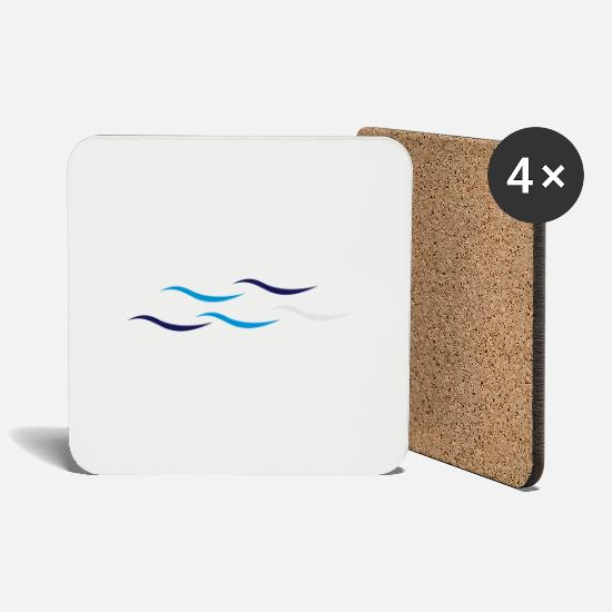 Dive Mugs & Drinkware - Waves - Coasters white