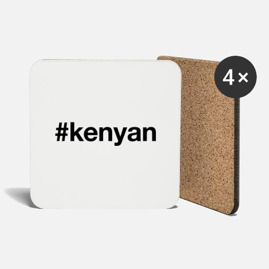 Nairobi Mugs & Drinkware - KENIA - Coasters white