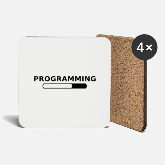 Game Mugs & Drinkware - Programming in Progress - Coasters white
