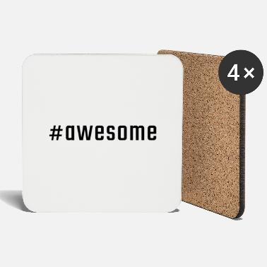 Lowercase #awesome - Coasters