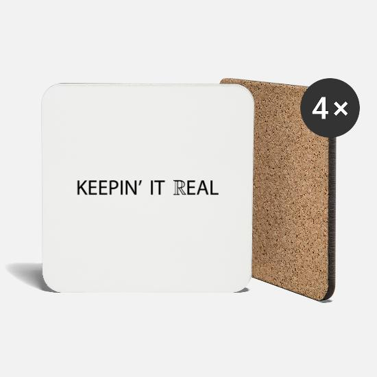 Real Mugs & Drinkware - Keeping it real - Coasters white