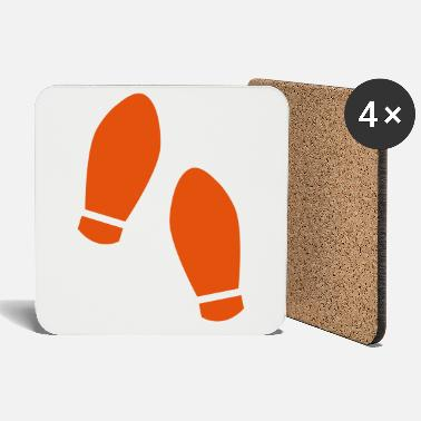 Step Dance Dance steps with 2 shoes - Coasters