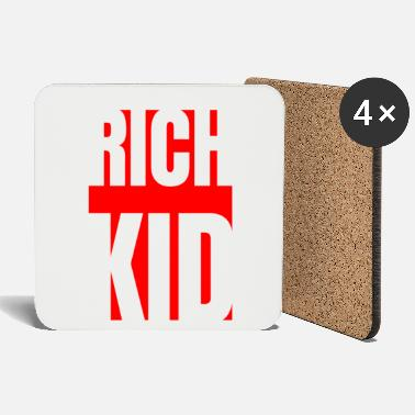 Luxury Rich kid hip hop kingdom luxury money hustle gift - Coasters