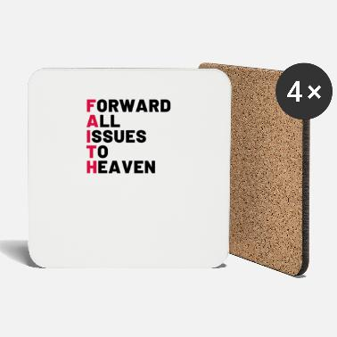 jesus christian bible cross saying church prayer - Coasters