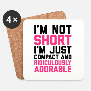 Stylé I'm Not Short Funny Quote - Dessous de verre (lot de 4)