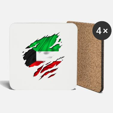 Country Flag Football Sport And Arab Art Jesus koweit koweït kuwait - Coasters