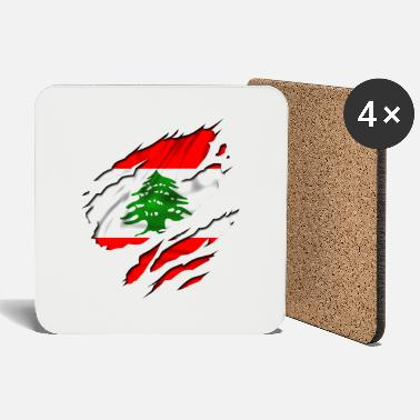 Country Flag Football Sport And Arab Art Jesus country flag lebanon - Coasters