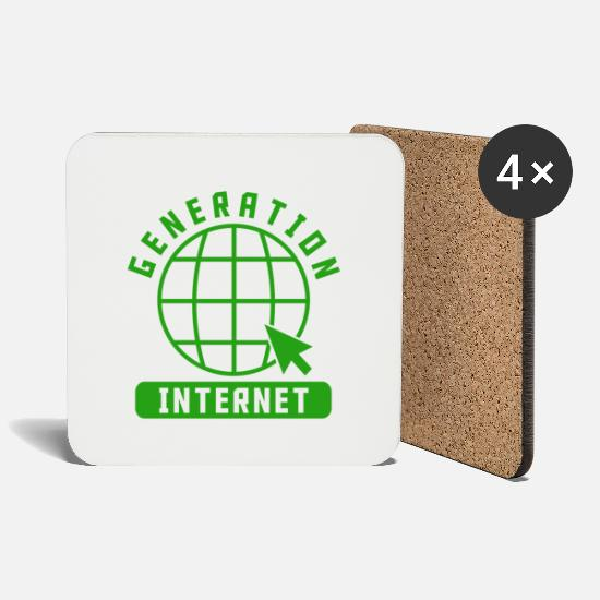 Generation Mugs & Drinkware - GENERATION INTERNET - Coasters white
