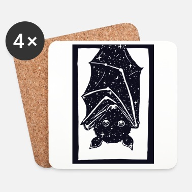 Black And White Collection Spacebat - Coasters (set of 4)