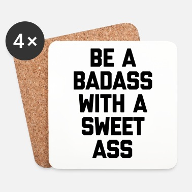 Training Be A Badass Gym Quote - Dessous de verre (lot de 4)