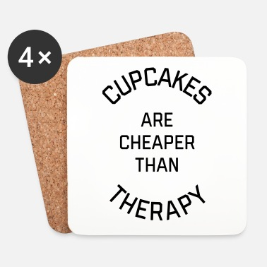 Cupcake Cupcakes Cheaper Therapy Funny Quote - Underlägg (4-pack)
