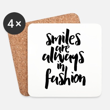 Inspiration Smiles In Fashion Quote - Underlägg (4-pack)