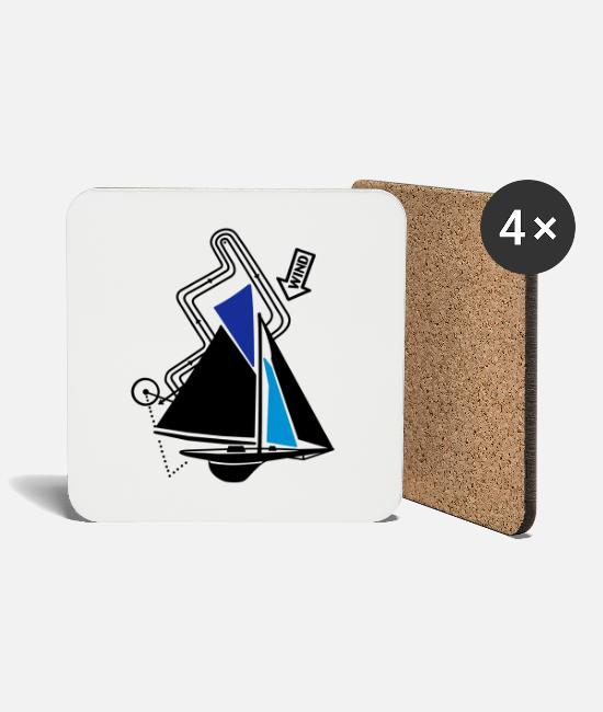 Water Mugs & Drinkware - technical sailing yacht no.2 the classical - Coasters white