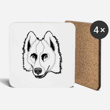 Province Laika de Yacoutie - B & W sketching style - Coasters