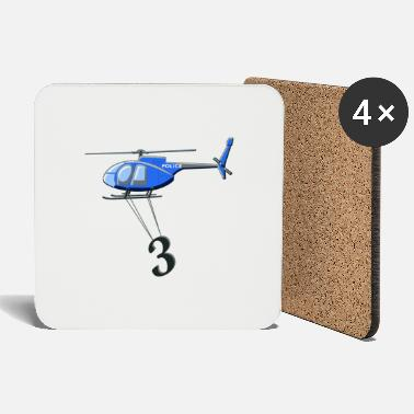 Helicopter Third Birthday - Coasters